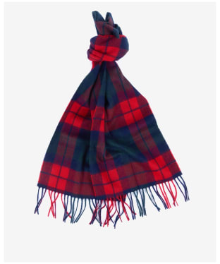 Barbour New Check Tartan Scarf - Bright Red