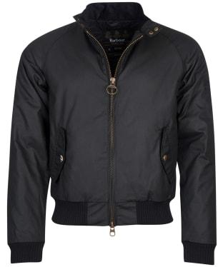 Men's Barbour Steve McQueen Merchant Wax Jacket - Black