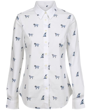 Women's Schoffel Norfolk Shirt - Spaniel Print