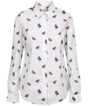 Women's Schoffel Norfolk Shirt - French Partridge Print