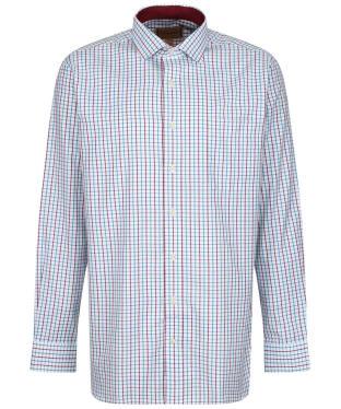Men's Schoffel Milton Tailored Shirt - BORDEAUX/DKTLCK