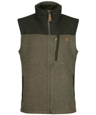 Men's Fjallraven Buck Fleece Vest - Laurel Green / Deep Forest