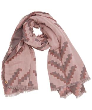 Tentree Organic Cotton Sumatra Blanket Scarf - Orchid Pink / Grey