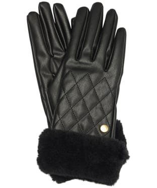 Women's Barbour International Podium Gloves - Black