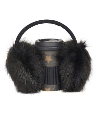 Women's Barbour International Travel Mug and Earmuff Gift Set - Black
