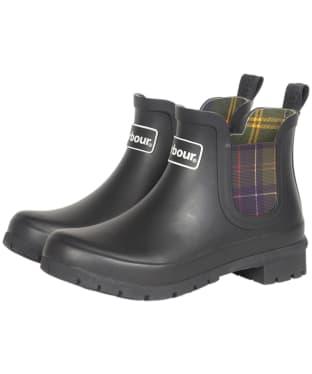 Women's Barbour Kingham Chelsea Boot Wellingtons - Black