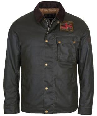 Men's Barbour International Steve McQueen Workers Waxed Jacket - Sage