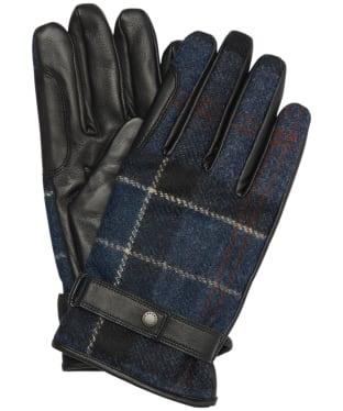 Men's Barbour Newbrough Tartan Gloves - Midnight Tartan