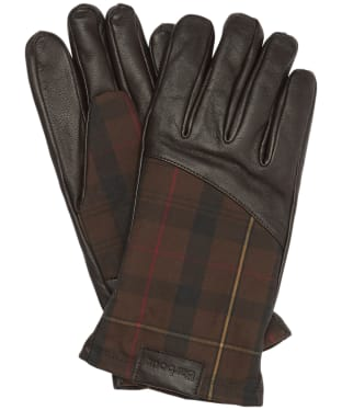 Men's Barbour Hebden Leather Gloves - Country/Brown