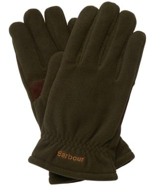 Men's Barbour Coalford Fleece Gloves - Olive