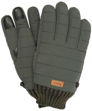 Men's Barbour Banff Quilted Gloves - Olive