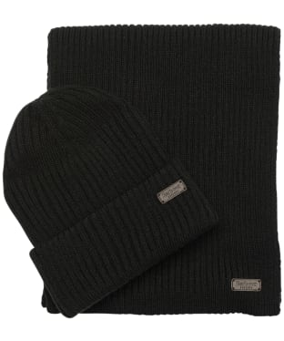 Men's Barbour Crimdon Beanie and Scarf Gift Set - Black