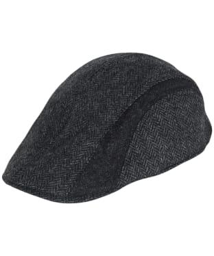 Men's Barbour Herringbone Tweed Cap - Charcoal