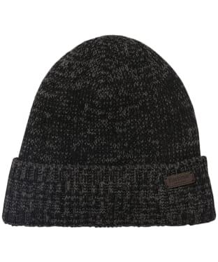 Men's Barbour Whitton Beanie Hat - Black / Grey