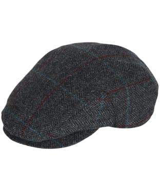Men's Barbour Cairn Flat Cap - Charcoal / Red / Blue