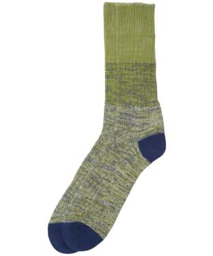 Men's Barbour Glencoe Socks - Olive Twist