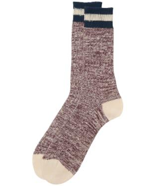 Men's Barbour Shandwick Socks - Burgundy