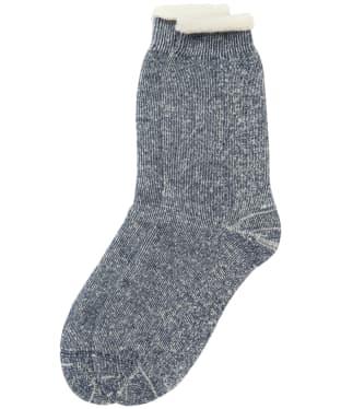 Men's Barbour Double Faced Boot Socks - Navy