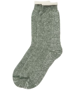 Men's Barbour Double Faced Boot Socks - Olive