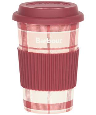 Barbour Tartan Travel Mug - Pink / Red