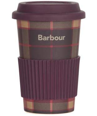Barbour Tartan Travel Mug - Winter Red