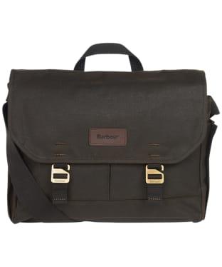Barbour Essential Wax Messenger Bag - Olive