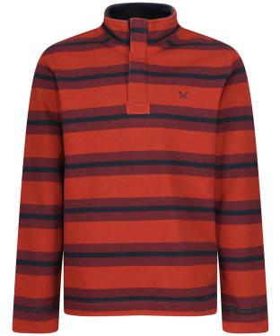Men's Crew Clothing Wide Stripe Padstow Sweatshirt - Laquer / Clart / Navy