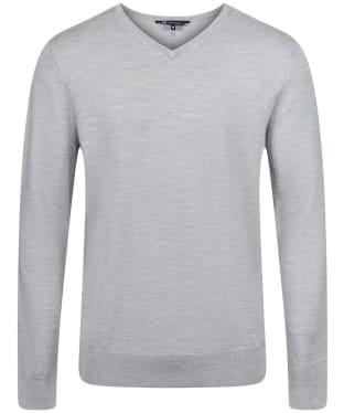 Men's Crew Clothing Merino V Neck Jumper - Mid Grey Marl