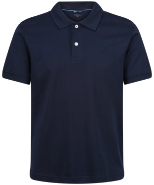 Men's Crew Clothing Luxe Supina SS Polo Shirt - Navy