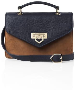 Women's Fairfax & Favor Loxley Mini Crossbody Bag - Tan / Navy