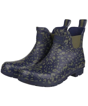 Women's Joules Short Printed Wellibobs - Khaki Leopard