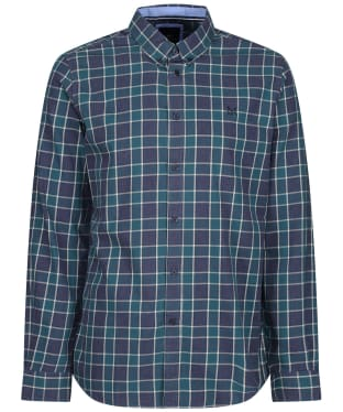 Men's Crew Clothing Slim Seafield Shirt - Navy / Ivy / Ruby