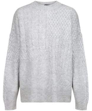Women's Crew Clothing Captain Cable Sweater - Pale Grey Marl