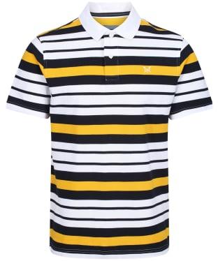 Men's Crew Clothing Helston Stripe Polo Shirt - Dark Navy