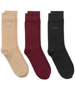 Men's GANT Soft Cotton Socks 3-Pack - Cabernet Red