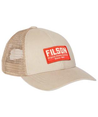 Filson Mesh Snap-Back Logger Cap - Khaki