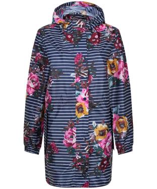 Women's Joules Golightly Packaway Waterproof Jacket - Navy/Cream Floral