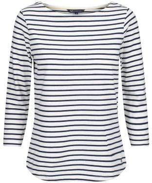 Women's Crew Clothing Essential Breton Top - White/Navy