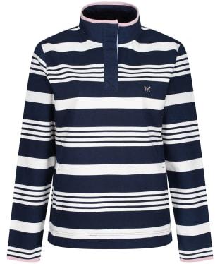 Women's Crew Clothing Padstow Sweater - Navy / White