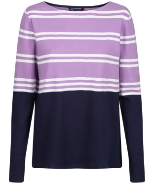 Women's Crew Clothing Ultimate Breton Top - Lilac/White/Navy
