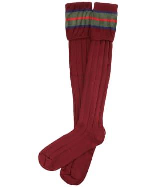 Pennine Nelson Cotton Socks - Port