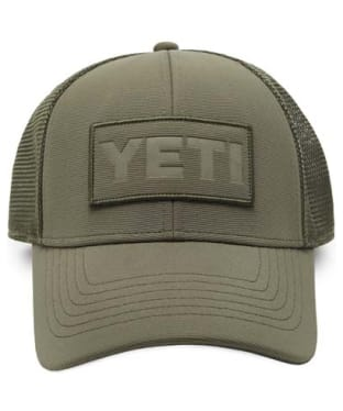 Yeti Patch on Patch Trucker Hat - Olive