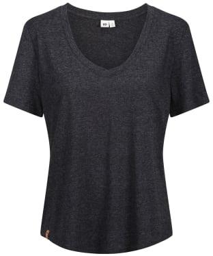 Women's Tentree Hemp V-Neck T-Shirt - Meteorite Black