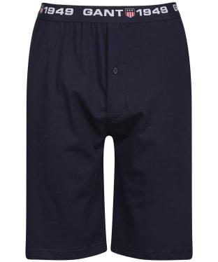 Men's GANT Retro Shield Jersey Shorts - Evening Blue