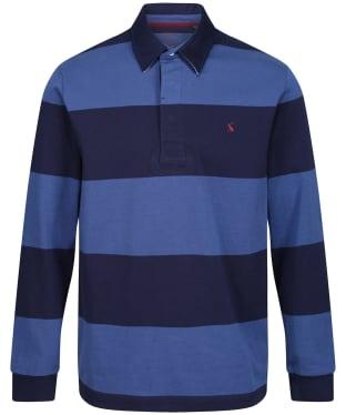 Men's Joules Onside Rugby Shirt - Navy / Blue Stripe