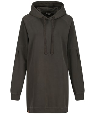 Women's Tentree French Terry Hoodie Dress - Black Olive Green