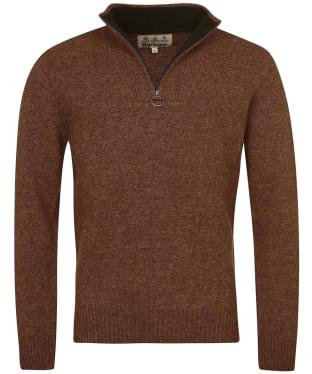 Men's Barbour Nelson Half Zip Sweater - Dark Sand
