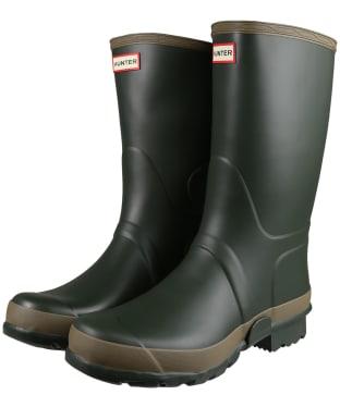 Men's Hunter Gardener Boots - Dark Olive / Clay