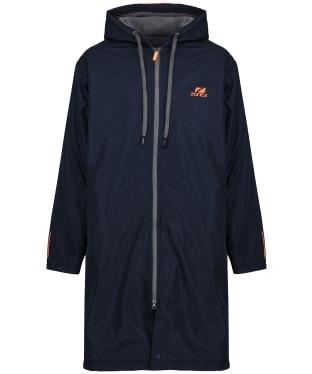 Zone3 Polar Fleece Parka Robe Jacket - Navy / Grey / Orange