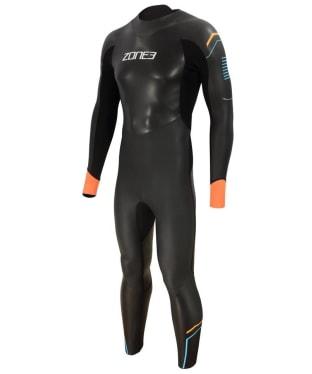 Men's Zone3 Aspect 'Breaststroke' Wetsuit - Black / Blue / Orange